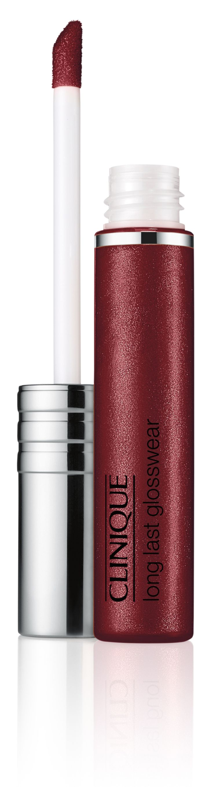Fall Makeup Trend: Berry Lips. Get the look with Clinique Long Last Glosswear in Hooked On You. Lip gloss juiced up with 8 hours of lasting shine.