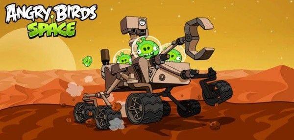 Angry Birds Space llega a Marte a bordo del Curiosity y tiene un nuevo nivel. ¡Actualiza!