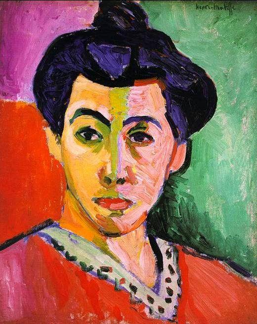 FAUVISMO. Henri Matisse 1905. La línea verde. Retrato de Madame Matisse