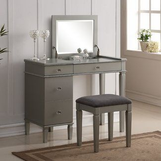 Darby Home Co® Balamore 2 Piece Vanity Set with Mirror