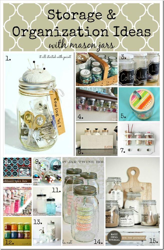 Storage & Organization Ideas   Mason Jar Crafts Love