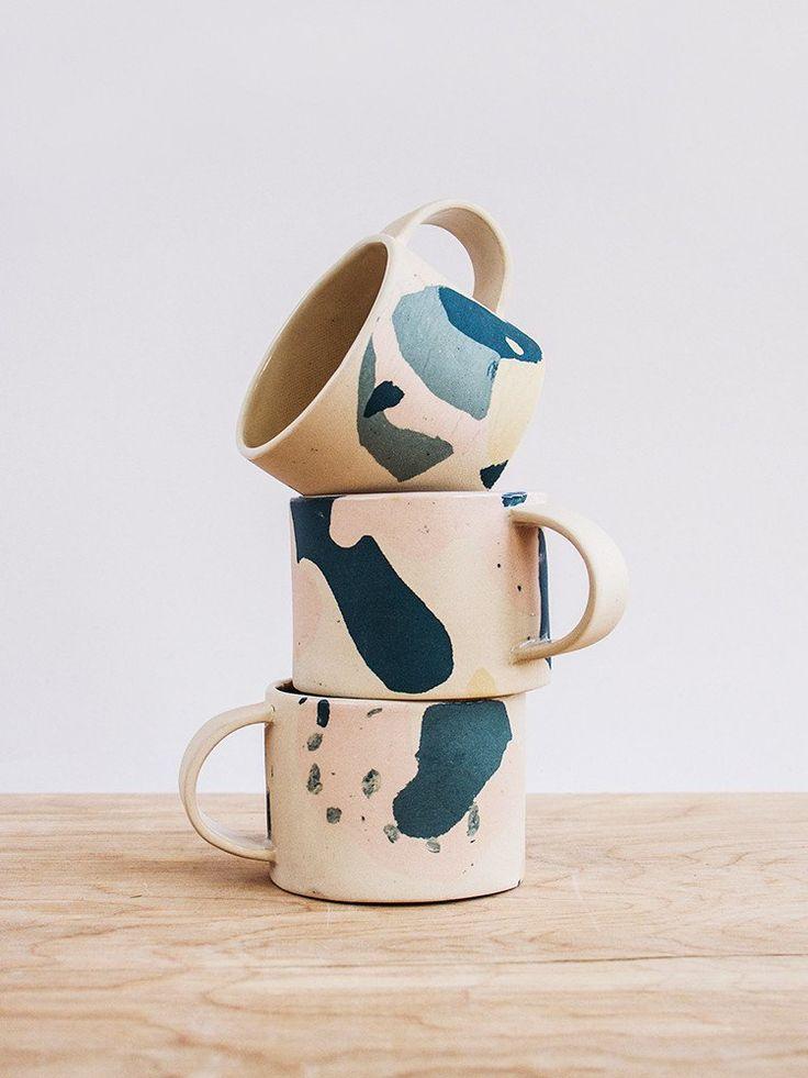 Jean Mug - Ceramic stoneware mugs from East London based artist/designer Anna Beam.