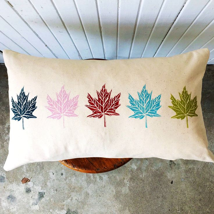 A personal favorite from my Etsy shop https://www.etsy.com/ca/listing/509538120/hand-printed-100-organic-canvas-pillow