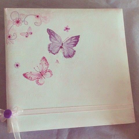 Butterfly photo album #party #decor #girl party theme #decoupage