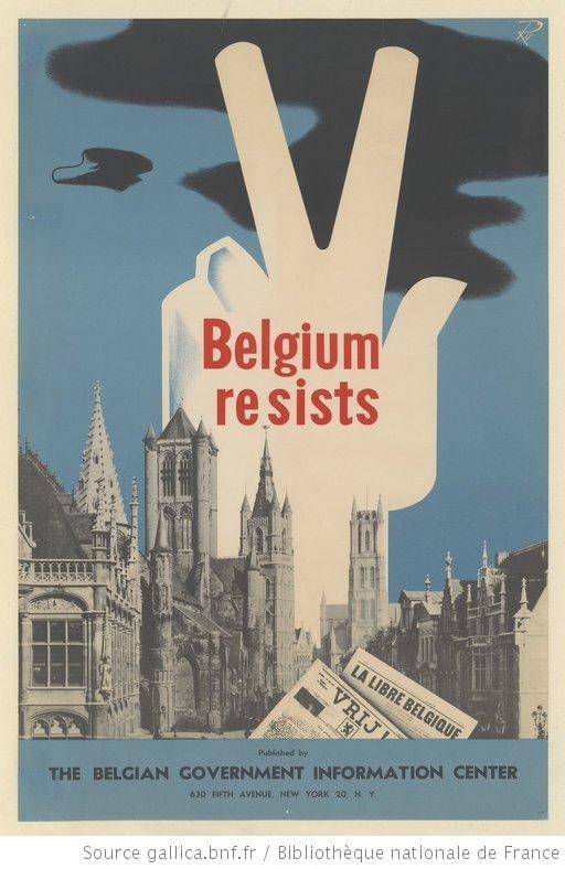 Belgium Resists Poster 1940-1944