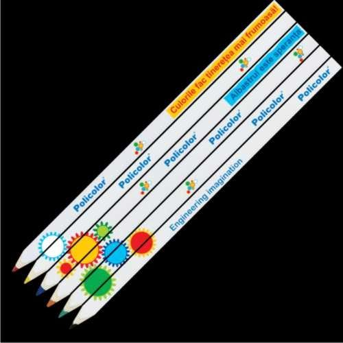 Cel mai mic banner portabil. Colorat si usor de indragit. set 6 creioane puzzle imprimate Fotocolor pe creioane productie proprie. www.atip.ro