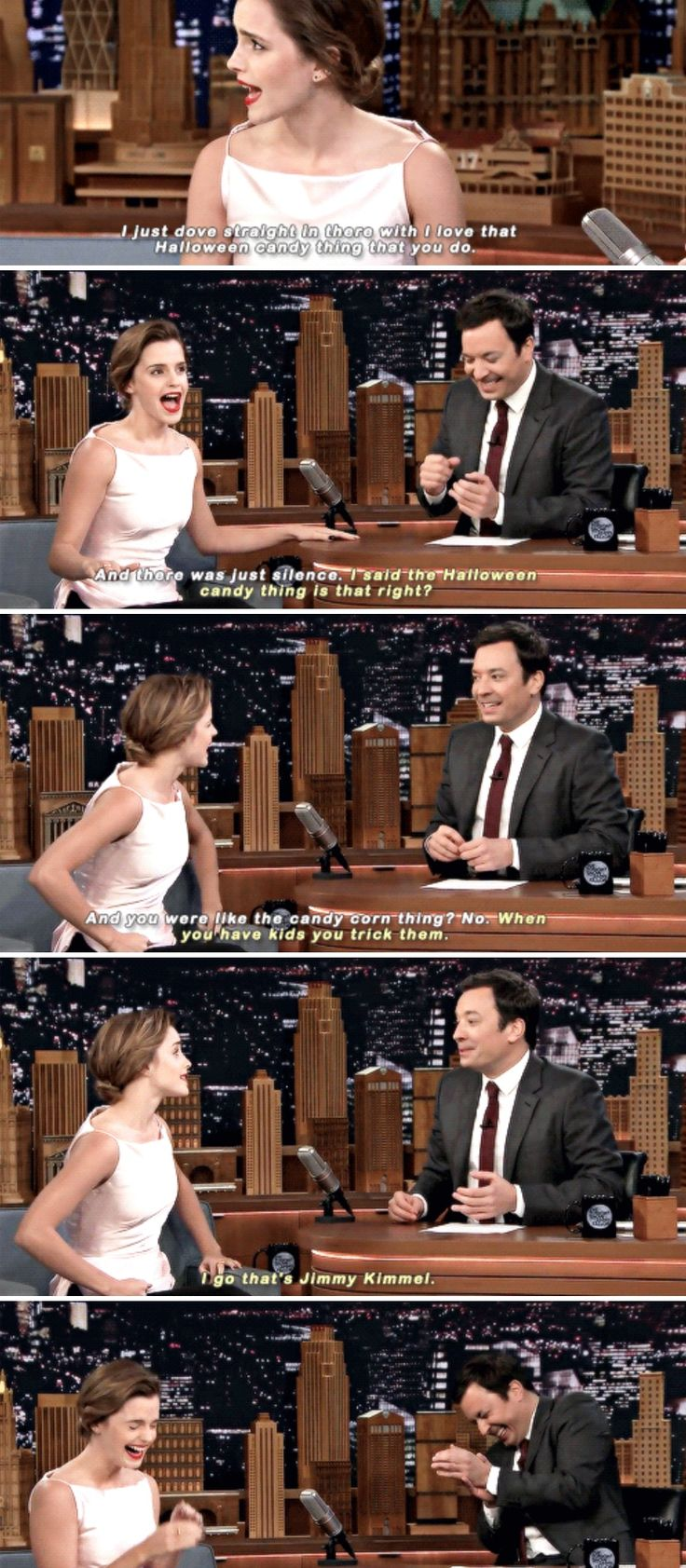 Emma Watson and Jimmy Fallon