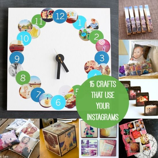 15 Fun Crafts That Use Your Instagrams - and get them off of your phone!