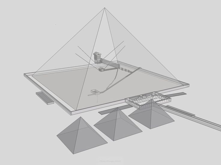 Diagram Of The Interior Structures Of The Great Pyramid The Inner Line Indicates The Pyramid S Present Profi Great Pyramid Of Giza Pyramids Ancient Technology
