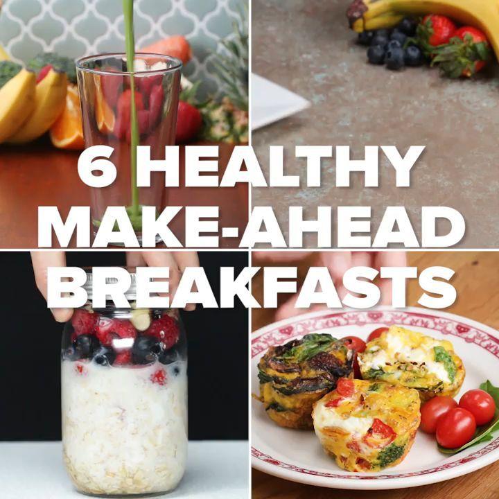 5 Healthy Meal Prep Breakfasts V8 In 2020 Healthy Breakfast Meal Prep Fast Healthy Breakfast Smoothie Recipes Healthy Breakfast