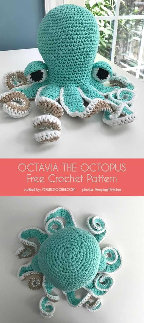 Octavia o teste padrão livre do Crochet do polvo