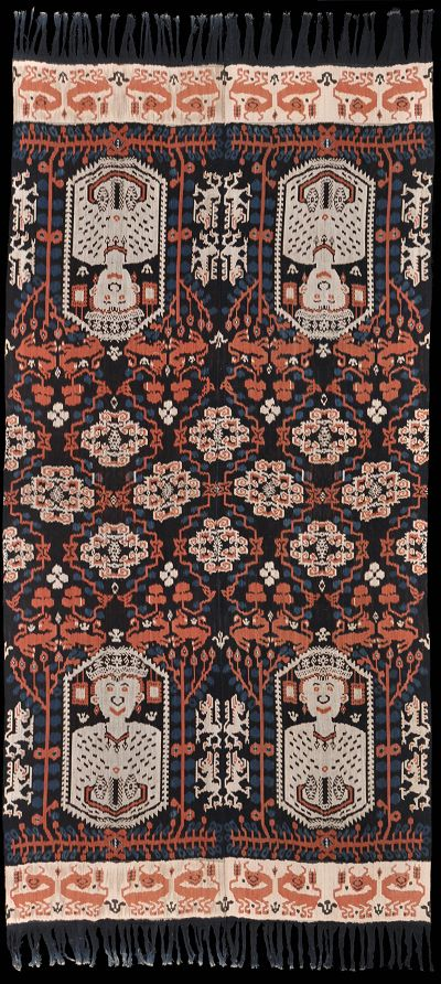 Ikat hinggi (blanket) from East Sumba, Sumba, Indonesia