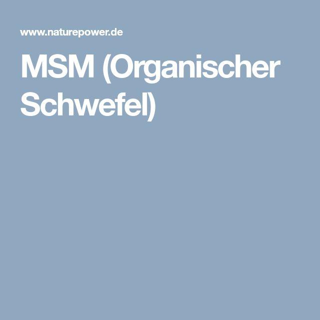 MSM (Organischer Schwefel)