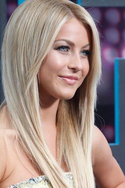 Julianne Hough - long straight layered hair style