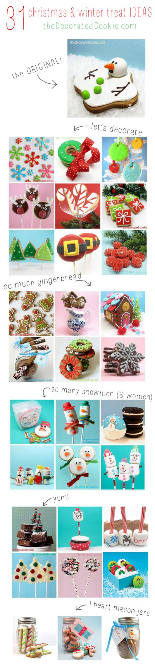 31 Ideas for Winter and Christmas treats and sweets.
