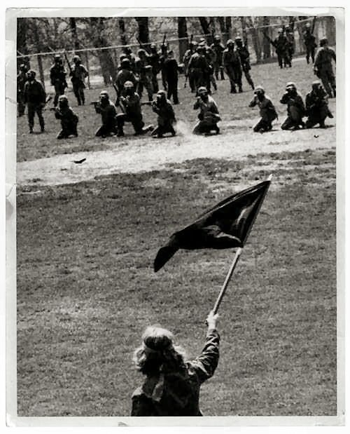 Iconic Photo. May 4 1970 the shooting at Kent State University.