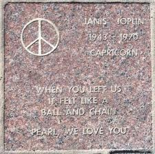 Janis Joplin memorial: Brick Walkway, Famous Graves, Celebrity Headstones Janis, Pearl, Headstones Janis Joplin, Golden Gate Bridge, Stone Monuments, Grave Stones