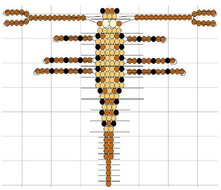 Схема плетения: Beads Scorpion