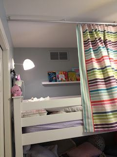 The idea for the bed tent started with my 6 year old. K1 (the 6 yr old) and K2 (the 3 year old) share a room and have bunk beds. K1 is on ...