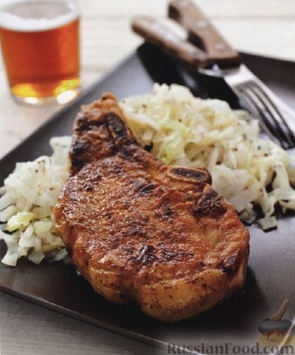 Рецепт жареная свинина на сковородке