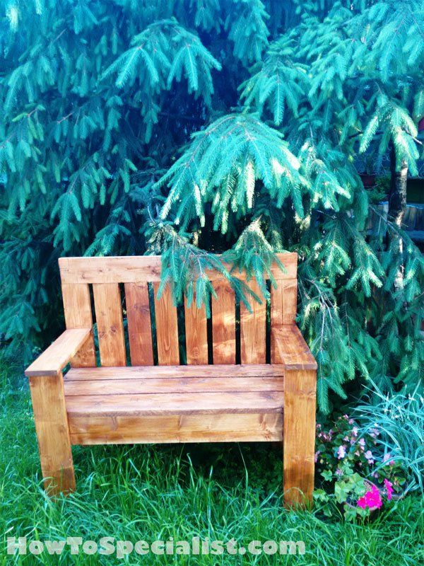 How to build a wooden bench howtospecialist how to for D i y garden bench designs
