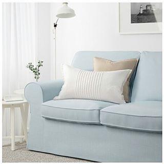 Ektorp Sofa in Nordvalla light blue IKEA