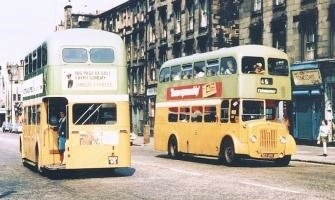Old Glasgow buses THE 61 AND THE 18  THEY ALL HAD NUMBERS THAT TOOK YOU SOME PLACE