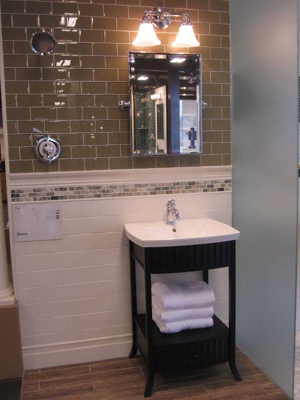 Transitional Bath With Quot Wood Look Quot Porcalain Tile Floor