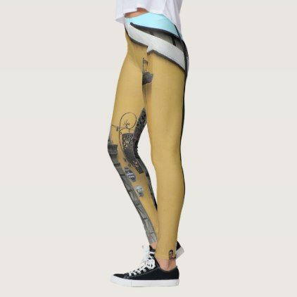 "Old Guatemala ""Casa de Oro"" Street Leggings - gold gifts golden customize diy"