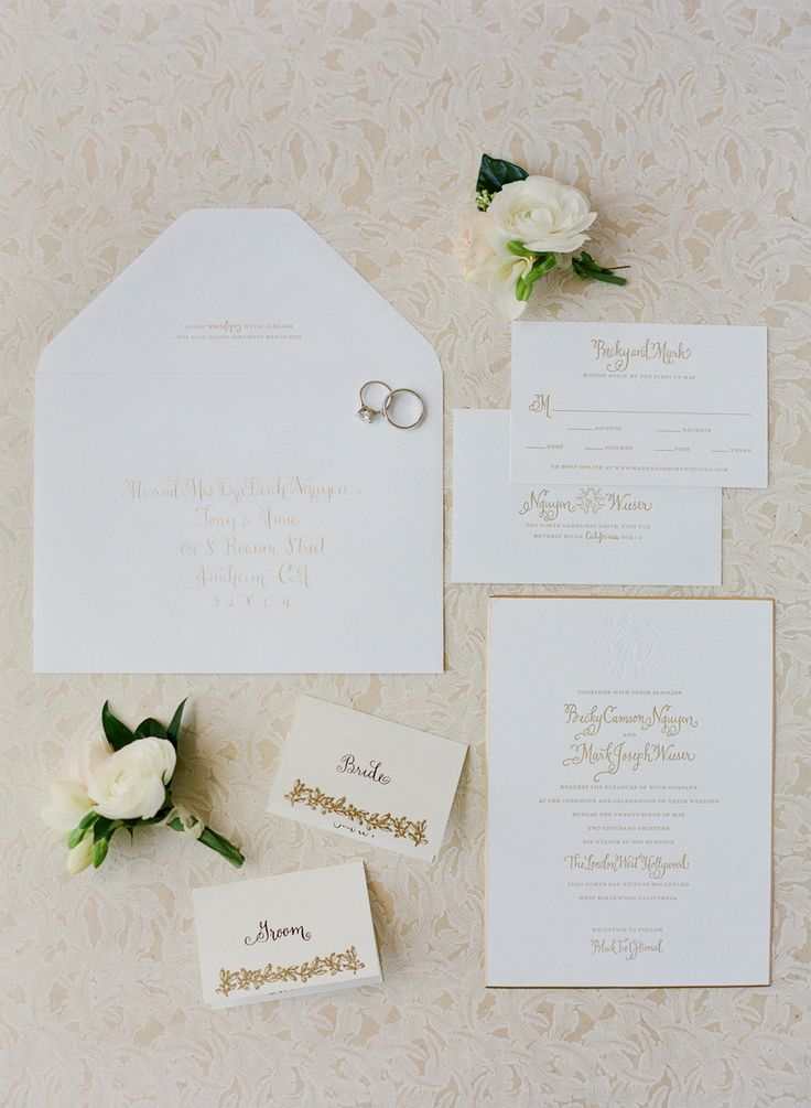 Classic Glam West Hollywood Wedding 663 best Invitation