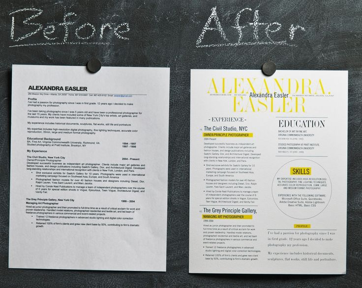 When it comes to applying for a job after college, make yourself stand out!  Especially if you're going into a field where design skills are paramount, a revamp of the traditional resume form may be in order. Check out the link for a great article on resume design!