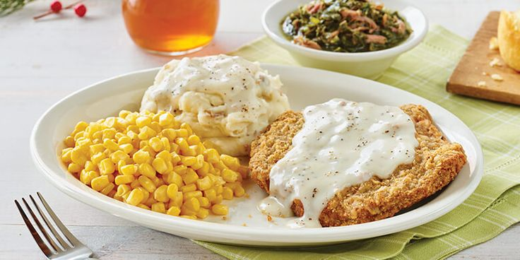 Image result for Country fried steak and all the fixings - Cracker Barrel