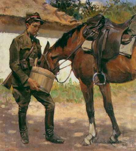 Watering of a Horse - Wojciech Kossak