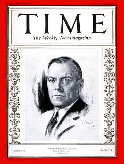 Walter C. Teagle -- Dec. 9, 1929