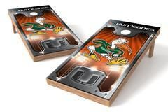 Miami Hurricanes Single Cornhole Board - Plate