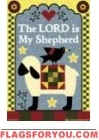 The Lord is My Shepherd House Flag - 4 left