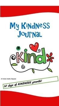 There are 30 pages in this KINDNESS journal. They can be used on a daily or weekly basis. Read each day's focus and spend a little time discussing the focus and chatting to children about ways they could respond in their journals. You may like to model some responses in your
