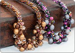 Beaded Necklace (Kumihimo)