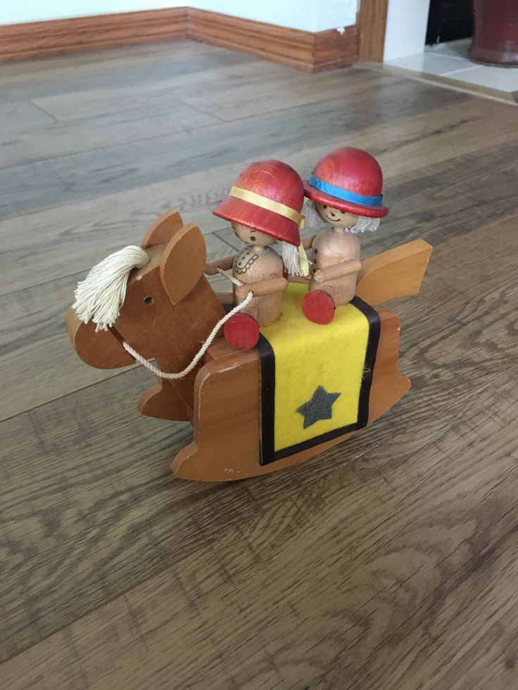 Vintage music box, Wood Rocking Horse music box, plays Toy Land, Made in Japan, children's room, by VintageCrazyGirl on Etsy