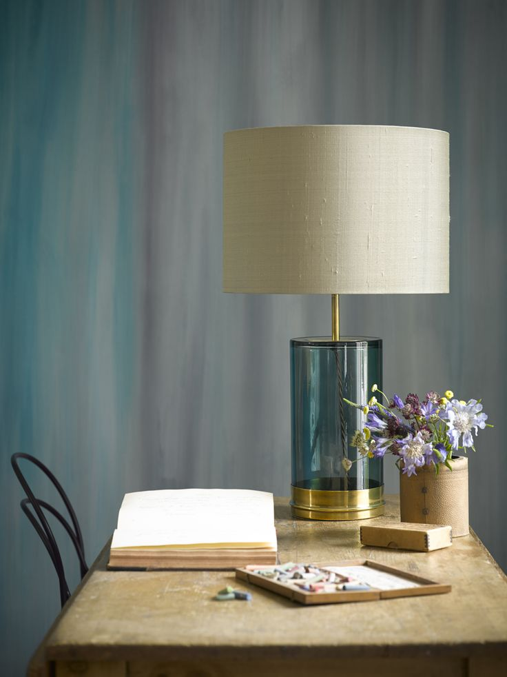 The glass and brass wisteria table lamp has an air of calm and tranquility perfect