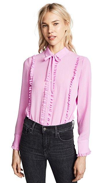 f6094286 Ruffle Button Down Shirt | Tops | Buttons, Scotch soda, Maison scotch