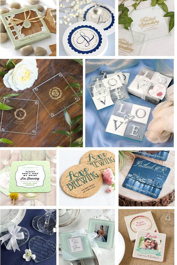 Coaster Wedding Favors Can Be Practical And Stylish At The Same Time Coaster Favors Are Wonderful Gifts F Wedding Coasters Favors Wedding Favors Happy Wedding