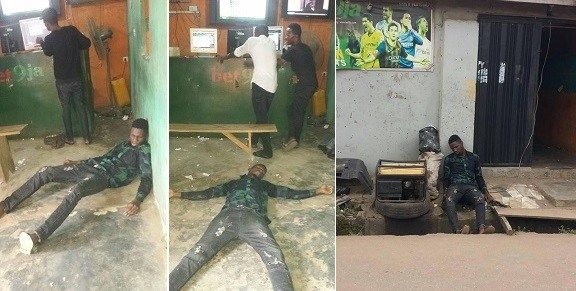 Nigerian Guy faints after Chelsea and Man Utd spoilt his bet ticket yesterday.