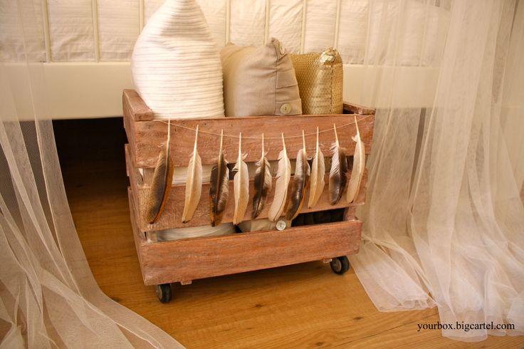 Caja de madera 3 listones estilo - Caja herramientas con ruedas ...