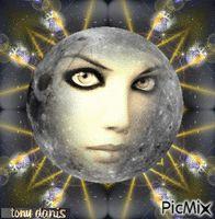THE FACE OF THE MOON la face de la lune  original backgrounds, painting,digital art by tonydanis