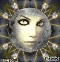 THE FACE OF THE MOON la face de la lune  original backgrounds, painting,digital art by tonydanis