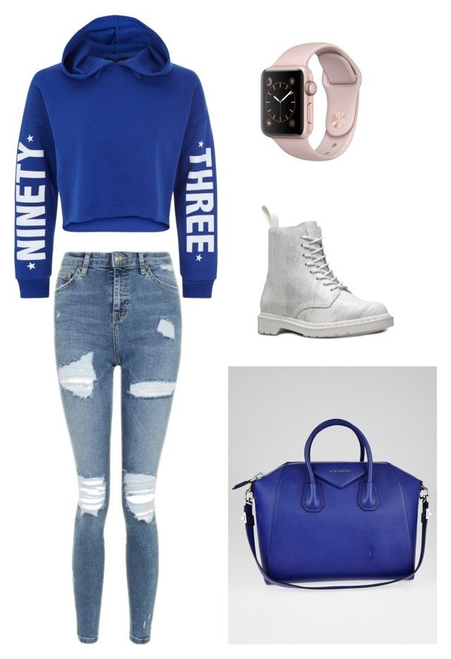 """""""Causal Chill"""" by cellini-cheung on Polyvore featuring New Look, Topshop, Dr. Martens and Givenchy"""