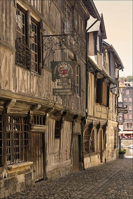 Rue de la Prison, Honfleur, this street hasn't changed in 500 years.
