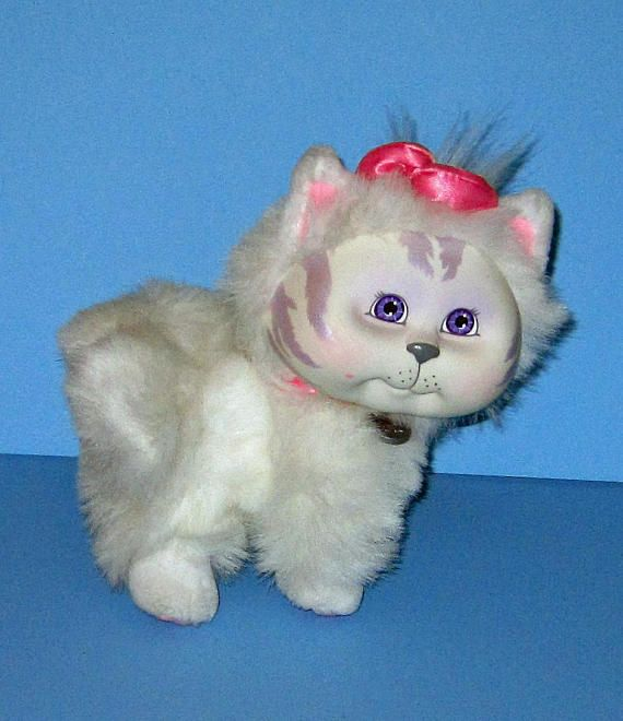 Cabbage Patch Kids Adopt and Luv Mattel White Cat  Vintage