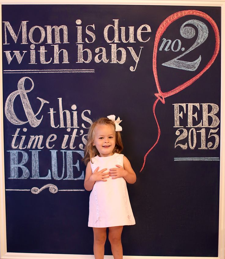Pregnancy announcement, big sister, little brother, chalk board announcement
